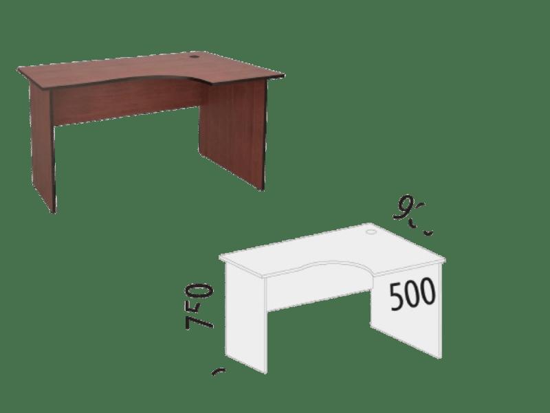Купить Эргономичный правый стол Рубин 41 в Красноярске